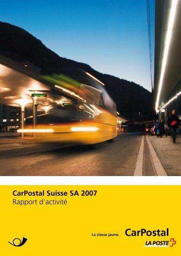 Télécharger rapport d'activité 2007Le lien est - CarPostal