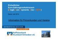 Die SEPA-Lastschriften - Raiffeisenbank Krumbach/Schwaben eG