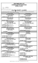SPECIMEN BALLOT CONSOLIDATED ELECTION APRIL 9, 2013 ...