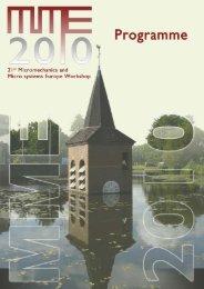 MME2010 Program (PDF, 320 kB) - Universiteit Twente