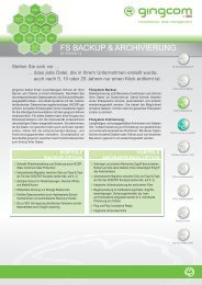 gingcom Fileserver Archivierung - Cristie Data Products GmbH