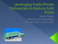 Leveraging Public-Private Partnerships to Reduce Solid Waste.
