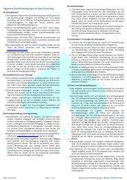 Allgemeine Geschäftsbediengungen Banoli Consulting