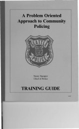 A Problem Oriented Approach to Community Policing - Center for ...