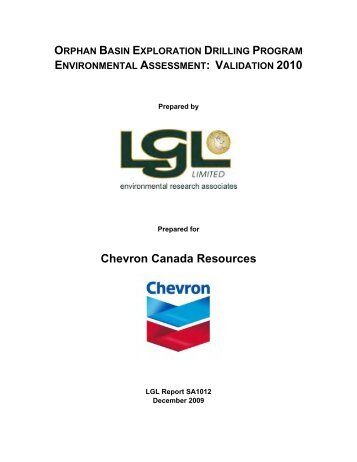 EA Validation Report 2010 - Canada-Newfoundland Offshore ...