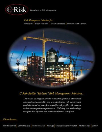"C-Risk Builds ""Holistic"" Risk Management Solutions..."
