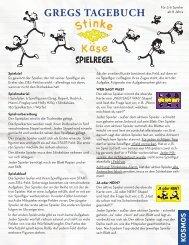 Anleitung: Gregs Tagebuch - Stinkekäse - Kosmos