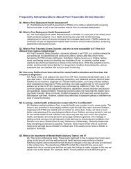 PTSD FAQ - The USARAK Home Page