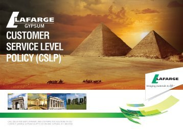 customer service level policy (cslp) - Lafarge in South Africa