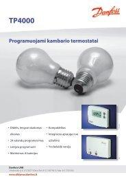 TP4000 Programuojamas kambario termostatas - Sanistal