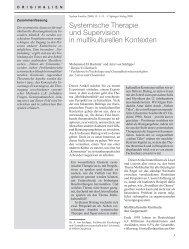 Systemische Therapie und Supervision in ... - Systemagazin