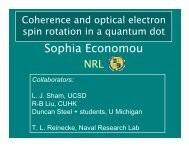 Sophia Economou_Coherence and optical spin rotations in quantum