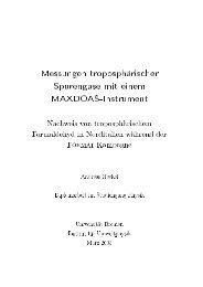 Messungen troposphärischer Spurengase mit einem MAXDOAS ...