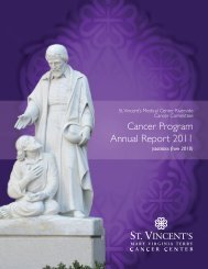 Cancer Program Annual Report 2011 - St. Vincent's Health System