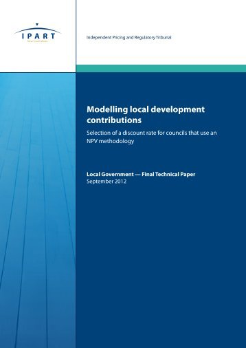 Final Technical Paper - Modelling local development contributions