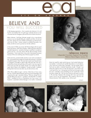 BELIEVE AND - Arbonne