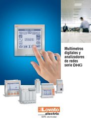 multimetros digitales - LOVATO ELECTRIC SPA GORLE Bergamo