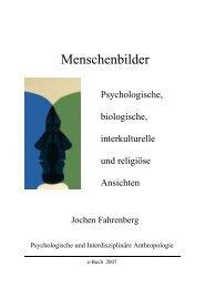 Menschenbilder - Jochen Fahrenberg