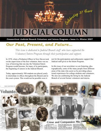 V/I Newsletter, Winter 2007 - Connecticut Judicial Branch - CT.gov