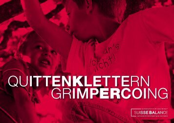 QUITTenKleTTERN GRIMpERcOING - Suisse Balance