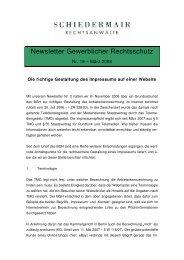 Impressum-Gestaltung auf Websites