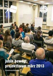 jubla.bewegt projektforum märz 2013 - Jungwacht Blauring Schweiz