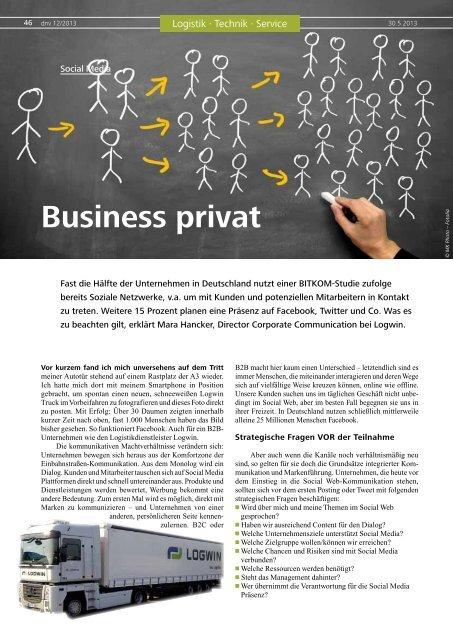 Business privat - Logwin Logistics