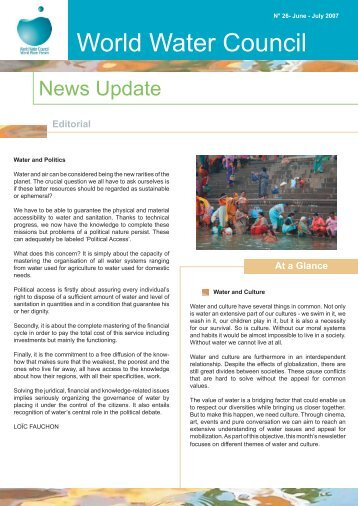 Lettre d'info du CME_26.-EN.indd - World Water Council