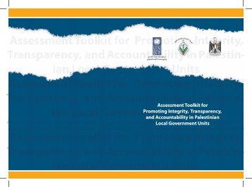 Assessment Toolkit for Promoting Integrity,Transparency ... - UNDP