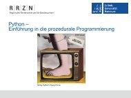 Einführung in die Programmierung - RRZN