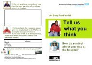 Tell us what you think - University College London Hospitals