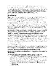 Politique sur la protection de la vie privée - Royal Architectural ...