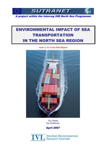 3 Environmental Impact of Sea Transportation in the North ... - Sutranet