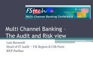 Multi Channel Banking – The Audit and Risk view