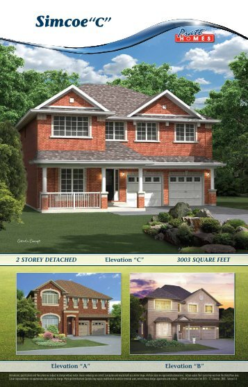 "3003 Square Feet Simcoe ""C"" - Pratt New Homes Innisfil"