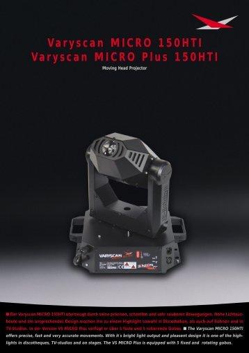 Varyscan MICRO 150HTI Varyscan MICRO Plus 150HTI