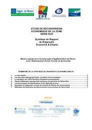 Synthèse du Rapport de Diagnostic Économie & Emploi - La Crea