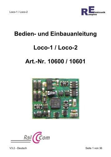 Anleitung Loco-1 - Rampino Elektronik