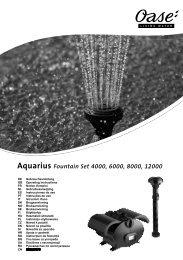 Aquarius Fountain Set 4000, 6000, 8000, 12000 - Oase Teichbau