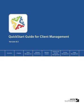 Administrator's Guide Reference Sections - JAMF Software