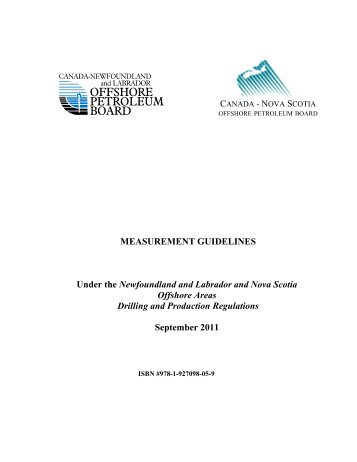 Measurement Guidelines - Canada-Newfoundland Offshore ...