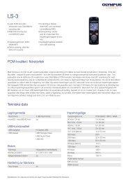 Produktblad - Olympus