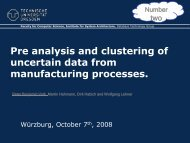 Pre analysis and clustering of uncertain data from manufacturing ...