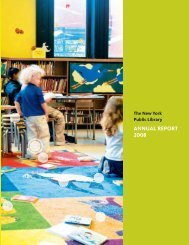 ANNUAL REPORT 2008 - New York Public Library