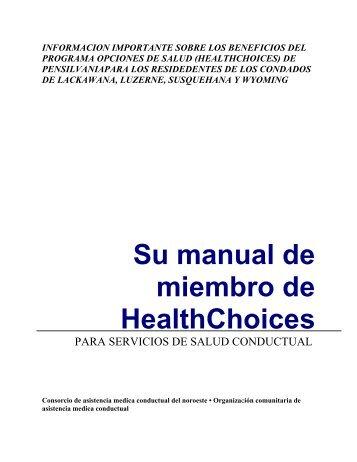 MANUAL DE OPCIONES MEDICAS PARA LOS MIEMBROS de la ...