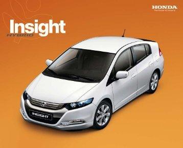 Honda Insight Prospekt - Auto Havelka