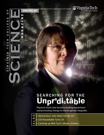 College of Science Magazine, Spring 2007 - Physics - Virginia Tech
