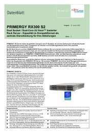 PRIMERGY RX300 S2 - Kastl GmbH