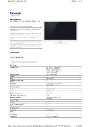 Seite 1 von 3 Panasonic - ideas for life 14.01.2013 http://www ...