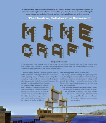 The Creative, Collaborative Universe of Minecraft